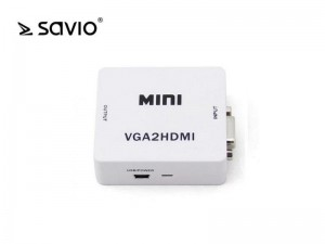 Elmak SAVIO CL-110 Konwerter/Adapter VGA -> HDMI Full HD/1080p 60Hz