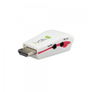 Techly Konwerter adapter HDMI na VGA M/F z audio, wersja mini