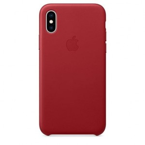 Apple Etui skórzane iPhone XS - (PRODUCT)RED