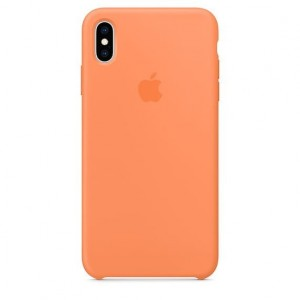 Apple Etui silikonowe iPhone XS Max - papaja