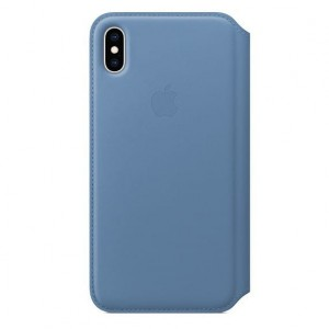 Apple Etui skórzane folio iPhone XS Max - chabrowe