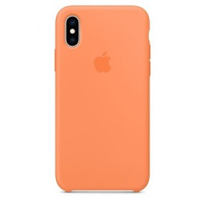 Apple Etui silikonowe iPhone XS - papaja