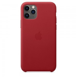 Apple Skórzane etui do iPhone 11 Pro Max - (PRODUCT)RED