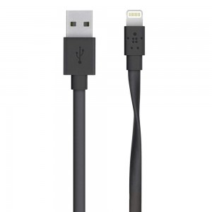 Belkin Kabel Flat Lightning do USB Mixit UP 1.2m czarny